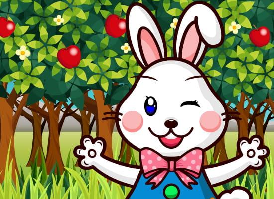 サイトの紹介するウサギキャラクター