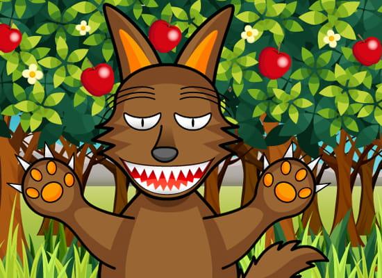 サイトの紹介するオオカミキャラクター