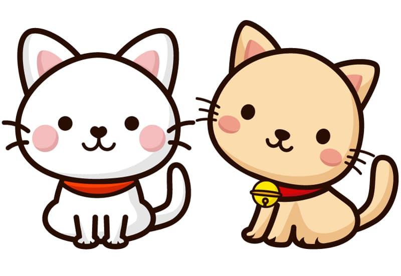 イラストAC掲載用イラスト(2匹の子猫)